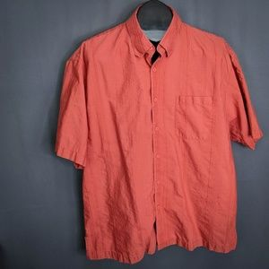 Tommy Bahama Mens Shirt Large Burnt Orange